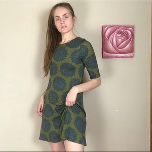 Live Happy (Natural Life) Patterned Shift Dress